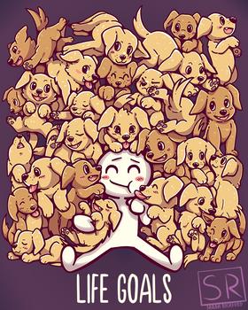 Life Goals - Golden Labrador Retriever dogs