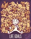 Life Goals - Golden Labrador Retriever dogs by SarahRichford