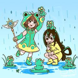 Best Frog Girls - BNHA + CardCaptor Sakura Shirt