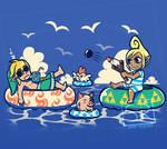Summer Sailing - Windwaker Summer Shirt design by SarahRichford