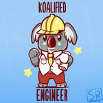 Koalified Engineer - Animal Pun Shirt design by SarahRichford