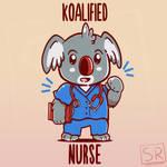 Koalified Nurse - Animal Pun Shirt design by SarahRichford
