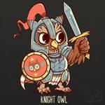 Knight Owl Shirt design by SarahRichford