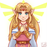 Princess Zelda outfit fan art by SarahRichford