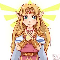 Princess Zelda outfit fan art