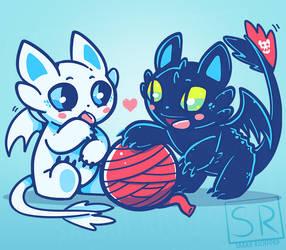 HTTYD Cute cat dragons
