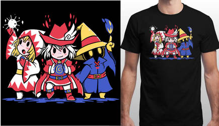 My Three Mages design print on Qwertee July 7th by SarahRichford