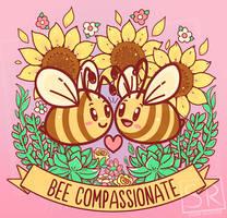Bee Compassionate - TechraNova design by SarahRichford
