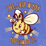 Bee-lieve in yourself - TechraNova design by SarahRichford