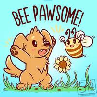 Bee Pawsome - TechraNova Design by SarahRichford