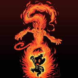 The Fire Ape Within - Chimchar and Infernape by SarahRichford