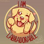 I am Labradorable - TechraNova design by SarahRichford
