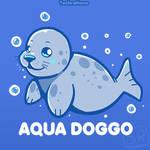 Aqua Doggo by SarahRichford