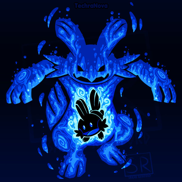7fd66391 The Waterkip within - Mudkip and Swampert by SarahRichford on DeviantArt