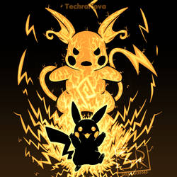 The Electric Mouse Within Pikachu Raichu Version by SarahRichford