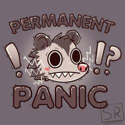 Permanent Panic Opossum - TechraNova Design by SarahRichford