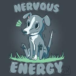 Nervous Energy Greyhound - TechraNova Design by SarahRichford