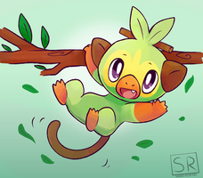 Pokemon Sword and Shield Grookey by SarahRichford