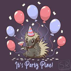 It's Party Pine Porcupine - TechraNova Design by SarahRichford