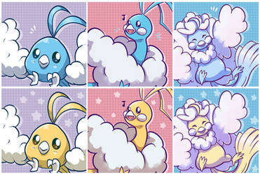 Free Altaria Line Icons for you all by SarahRichford