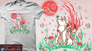 Please Vote for Wolf Blossom Breeze on Qwertee by SarahRichford