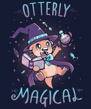 Otterly Magical printing on Qwertee today Nov 17