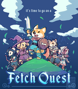 It's Time to go on a Fetch Quest - Poster cover