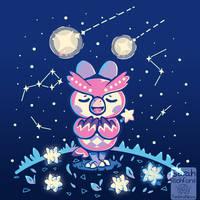 Starry Owl - Celeste Animal Crossing