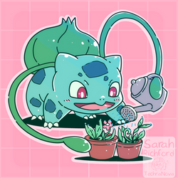 Bulbasaur Caring for his plants