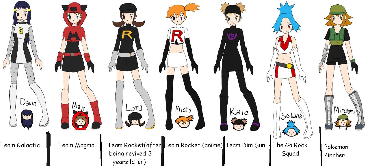 The girls of pokemon-bad girls by blazikenrocks on DeviantArt