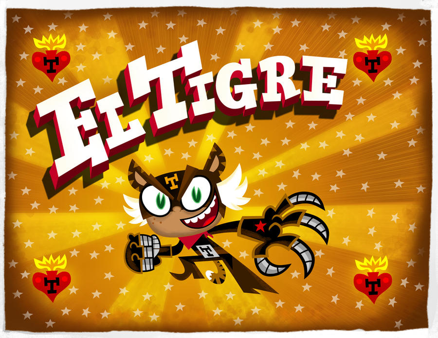 El Tigre main title card by mexopolis