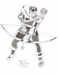 Hawkeye 60's Style - Jack Kirby Tribute by FabianBruno10