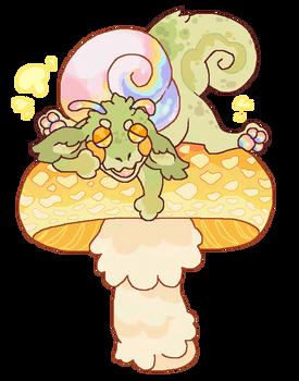 Naptime on a mushroom /simplytemonade/
