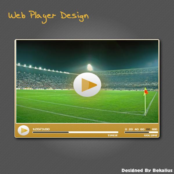 Web Media Player Design by Bekalius on DeviantArt