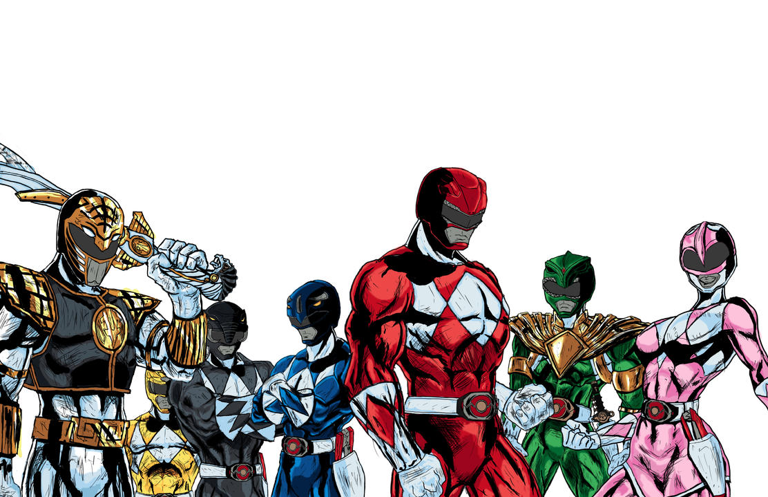 mighty morphin power rangers comic art - digitalctcfirebird on