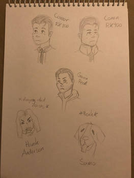 Detroit: Become Human sketches