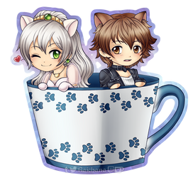 Commission - Cup o' Elie and Lloyd