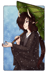 Yokai in the Snow by Raichana