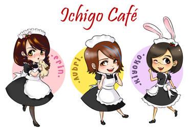 Ichigo Cafe chibi - set 1 by LambPlush