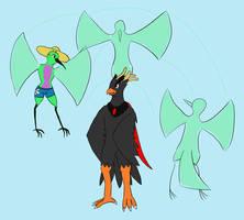 Meeting of birds