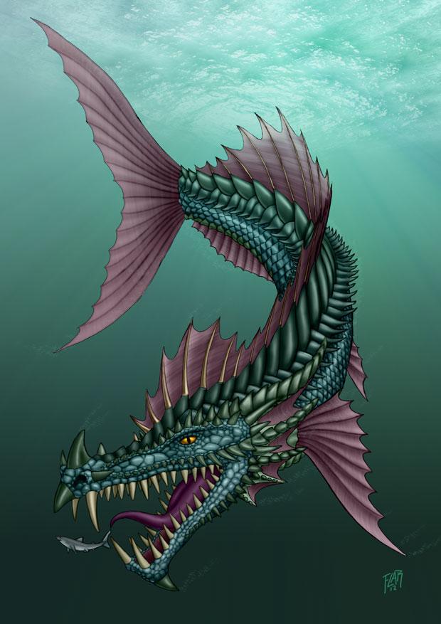 Dragon fish by sleinadflar on deviantart for Freshwater dragon fish