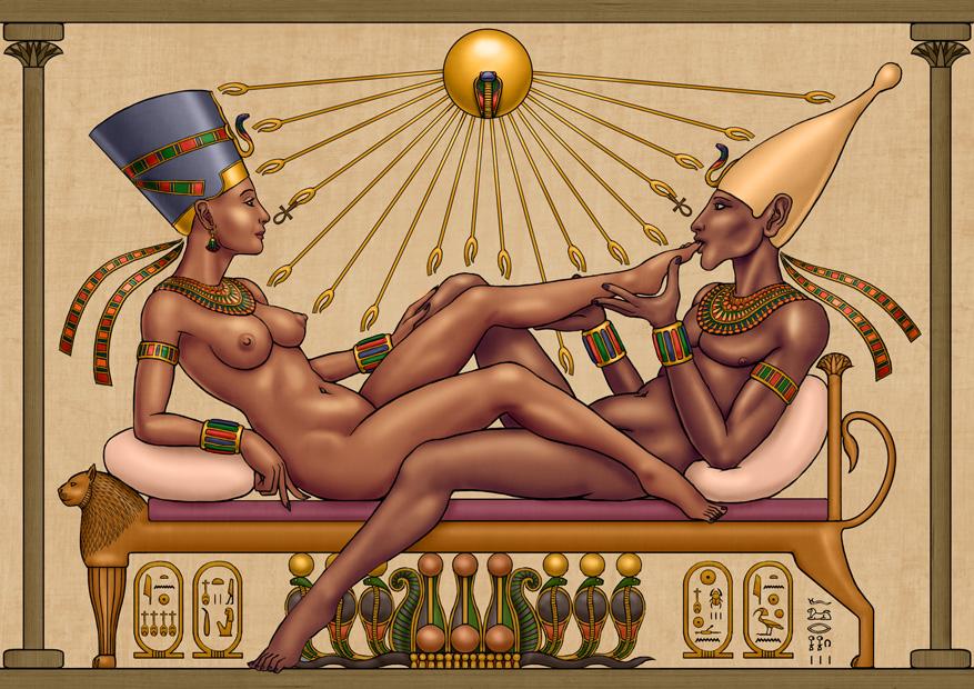 Akhenaten and Nefertiti by SleinadFlar