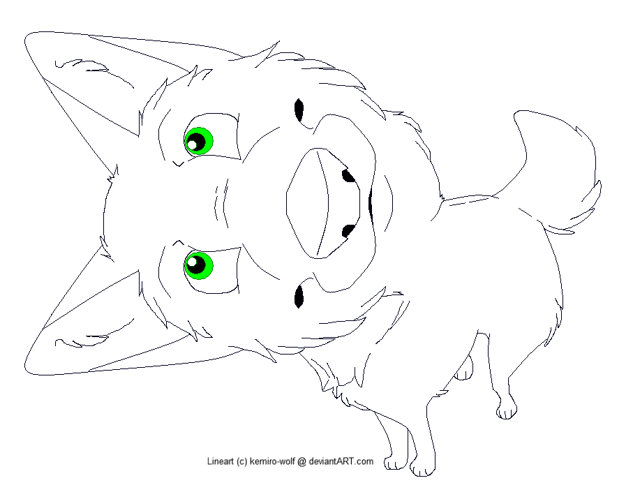 Canine Lineart -MSP Friendly!- by kemiro-wolf