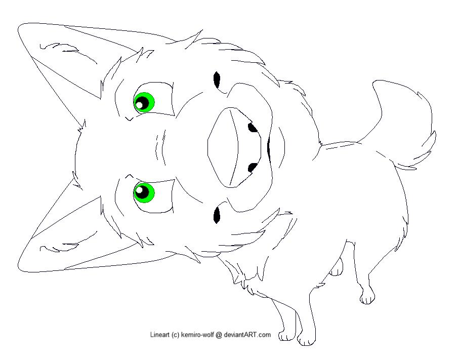 Canine Lineart -MSP Friendly!- by kemiro-wolf