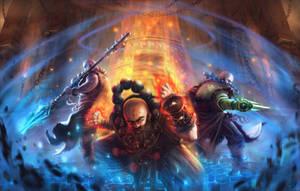 Guardians of the Temple by artofjosevega