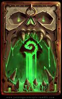 Dungeon Skull Cardback by artofjosevega