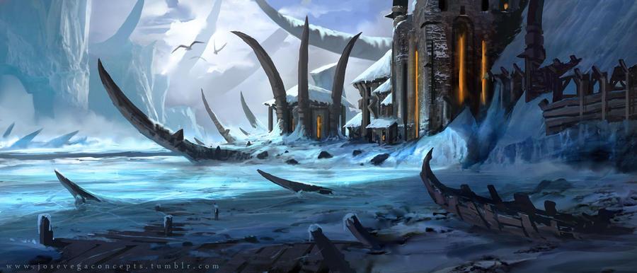 Ice Viking Castle by artofjosevega