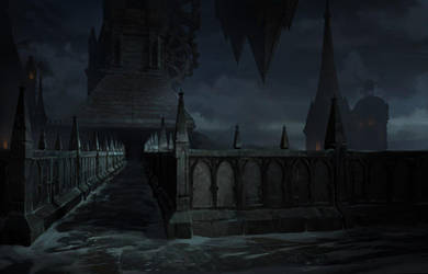 Castlevania season2 Background by artofjosevega