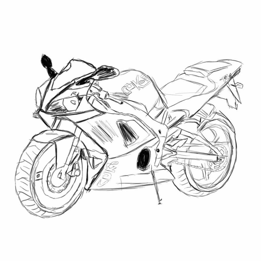 YAMAHA R1 SKETCH by Artnoobz on DeviantArt