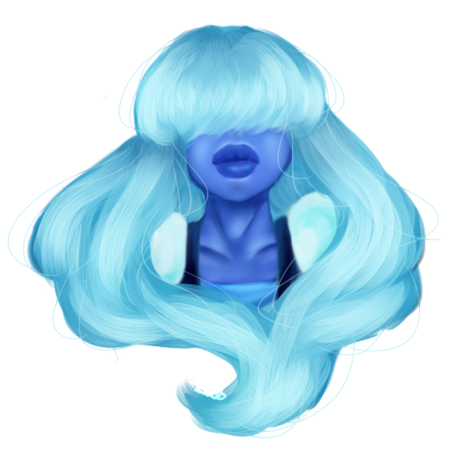 ✼Sticker Sapphire✼ From Steven Universe Commission Like this: 400points or 4$ Artist Tools: Paint Tool Sai Intous Wacom Graphic tablet
